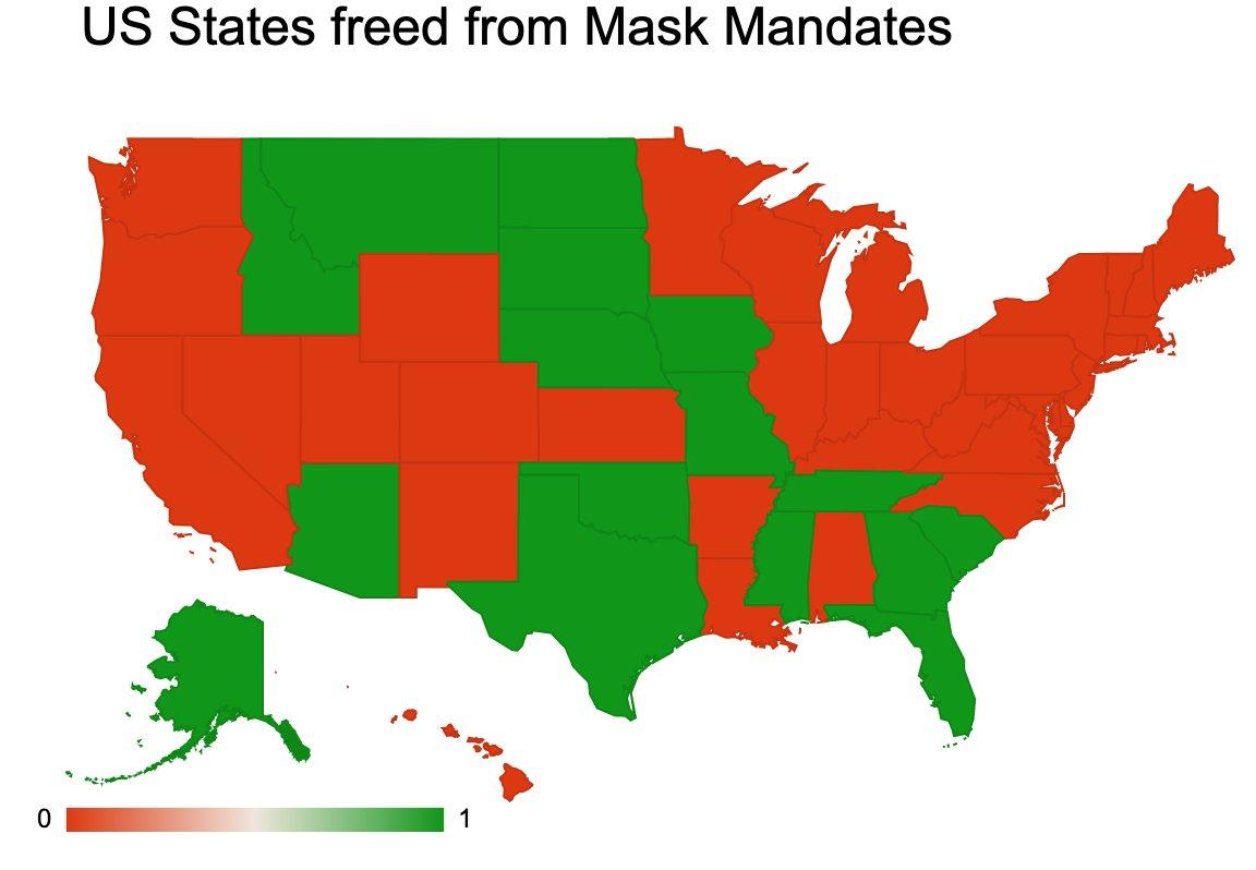 US-Bundesstaaten heben Corona-Maßnahmen und Maskenpflicht auf – 16 Staaten bereits ohne
